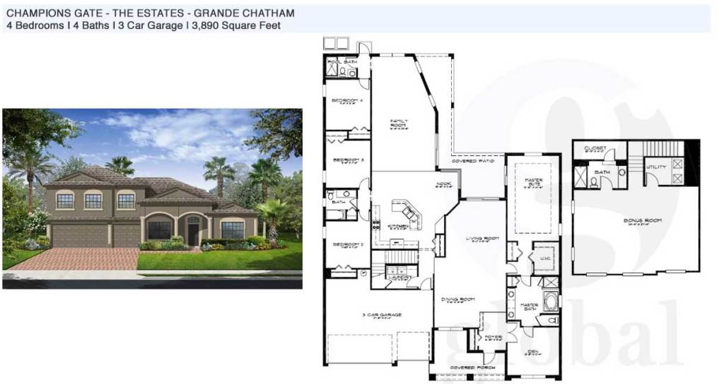 grande chatham Floor Plan