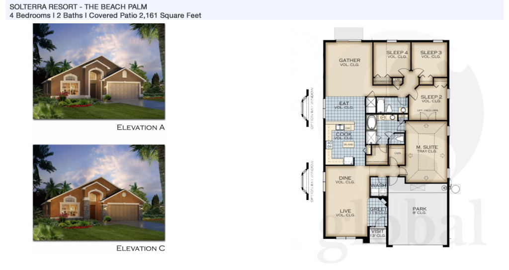 beach palm Floor Plan